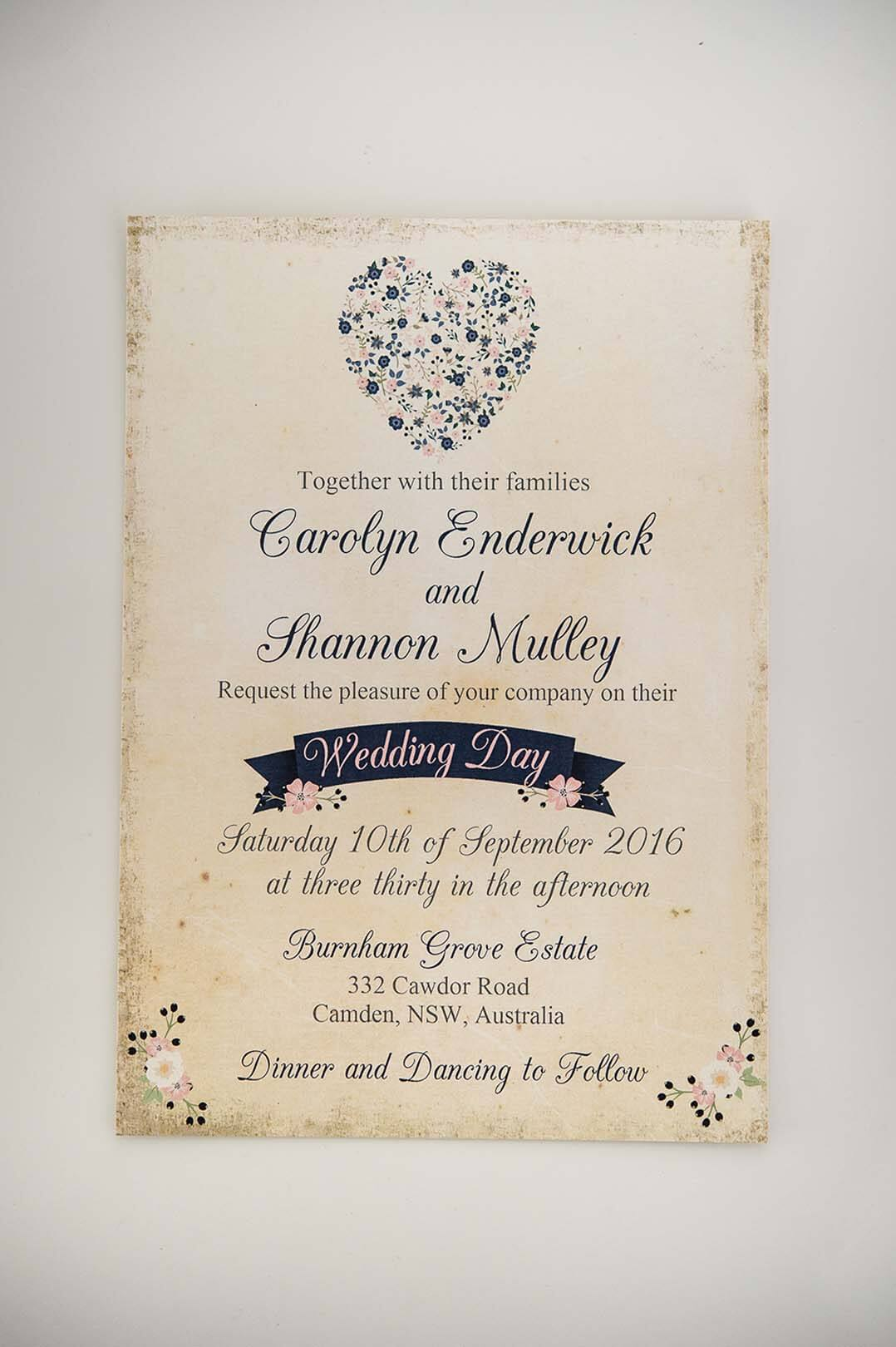 Carolyn & Shannon Wedding Card